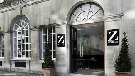 Exterior of the entrance of the Z Hotel Victoria